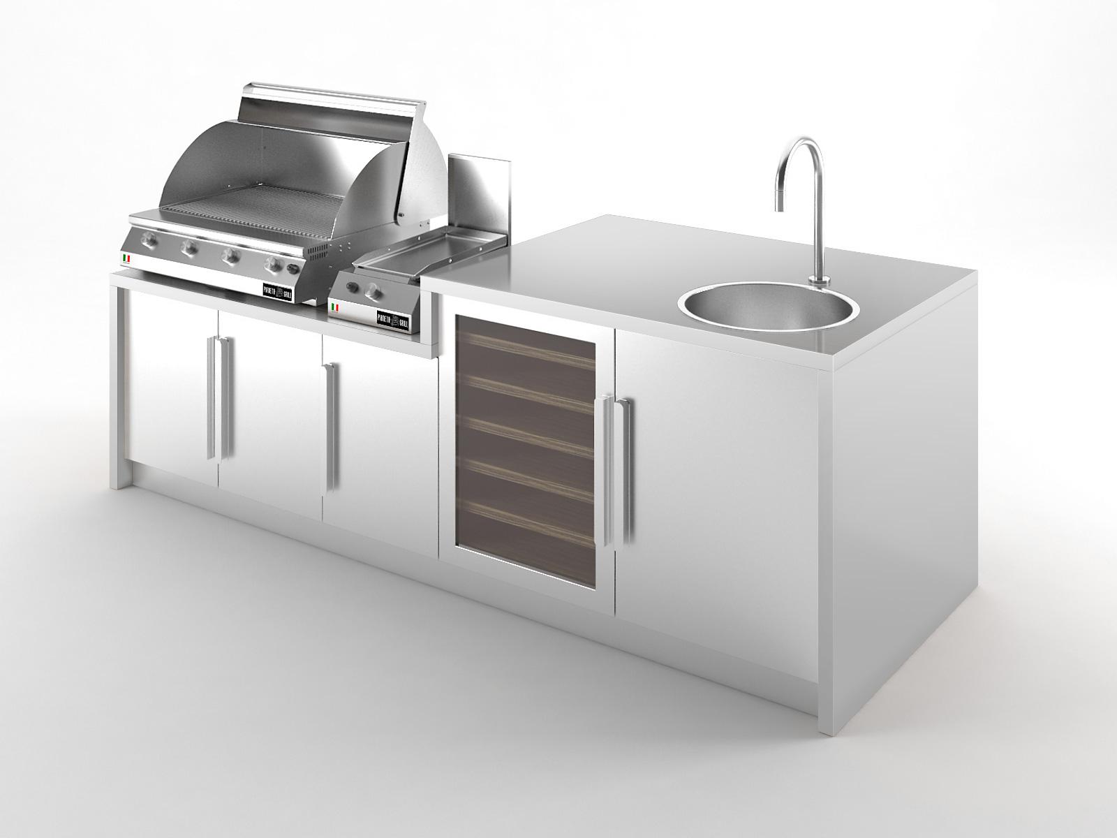 Cucine Da Esterno Prezzi cucine da esterno - grilled luxury - pianeta grill